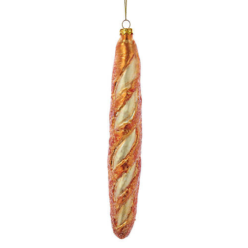 French Baguette Ornament, Tan