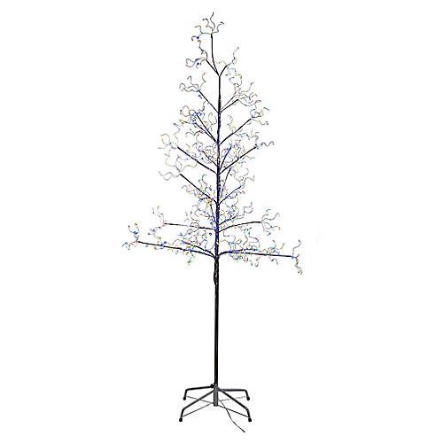 Fairy Pre-Lit Faux Tree, Silver/Multi
