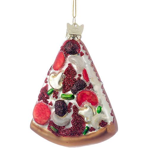 Pizza Slice Ornament, Red