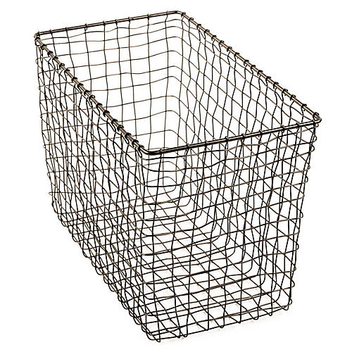 "15"" Bosworth Magazine Basket, Gray"