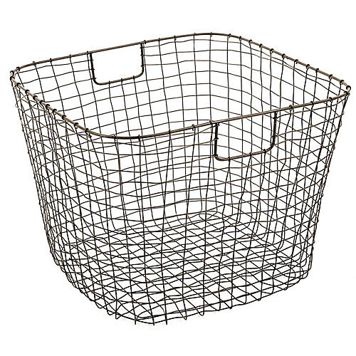 "19"" Bosworth Harvest Basket, Gray"