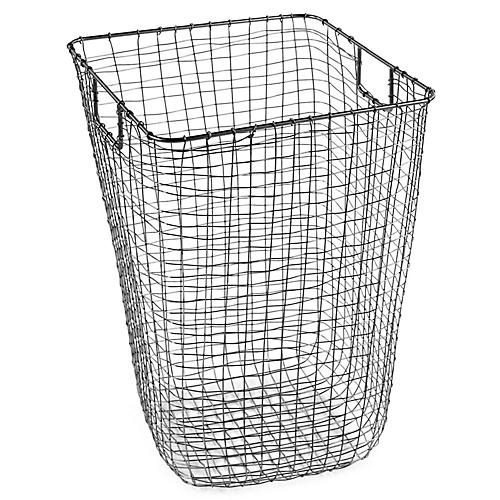 "25"" Bosworth Hamper, Gray"