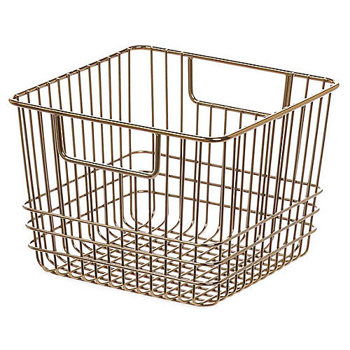"7"" Solano Small Storage Basket, Copper"