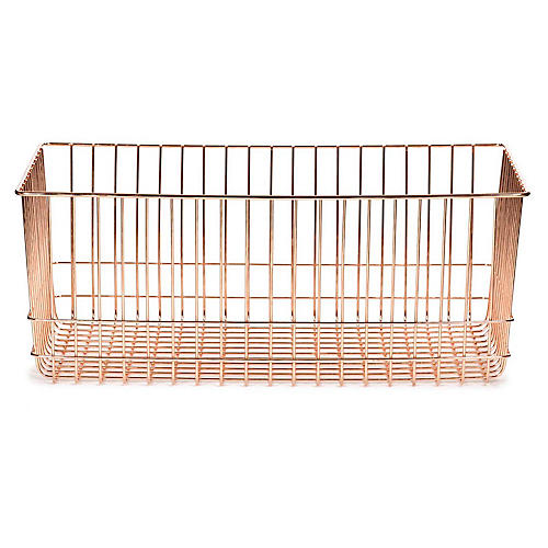 "20"" Lawton Long Storage Basket, Copper"
