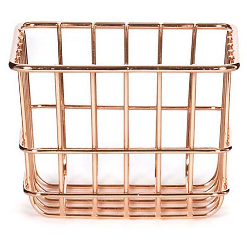 "6"" Lawton Extra-Small Storage Basket, Copper"