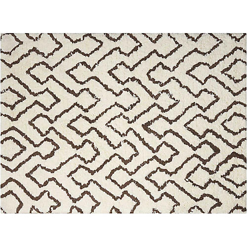 Navarro Kids' Rug, Ivory/Chocolate