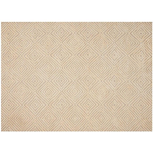 Alice Rug, Taupe/Ivory