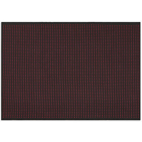 Seattle Rug, Black/Magenta