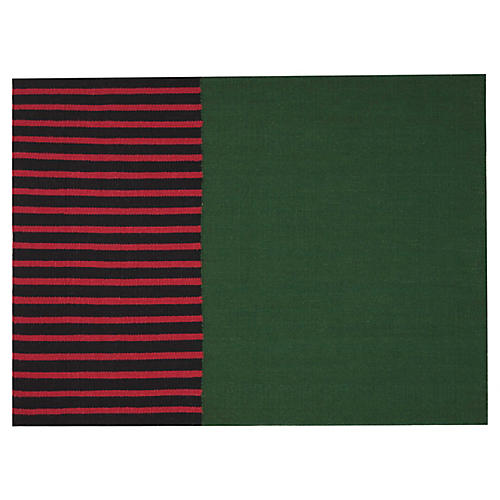 Nashville Rug, Green/Black