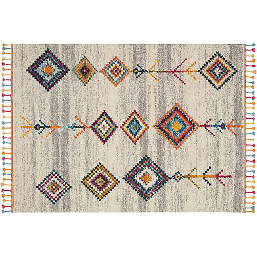 Bonilla Kids' Rug, Cream/Gray