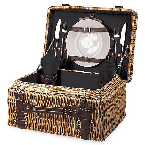 Champion Picnic Basket Set, Black/Multi