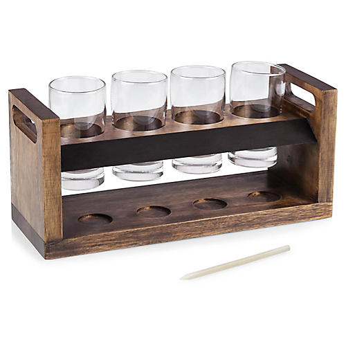 Craft Beer Flight Set, Natural/Multi