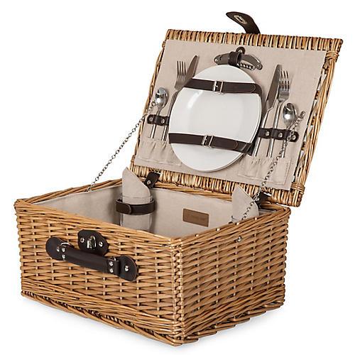 Finn Picnic Basket Set, Natural