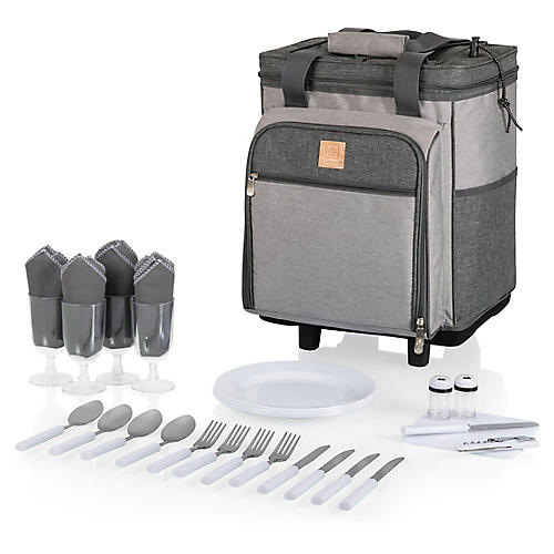 Rolling Teton Cooler Set, Heathered Gray