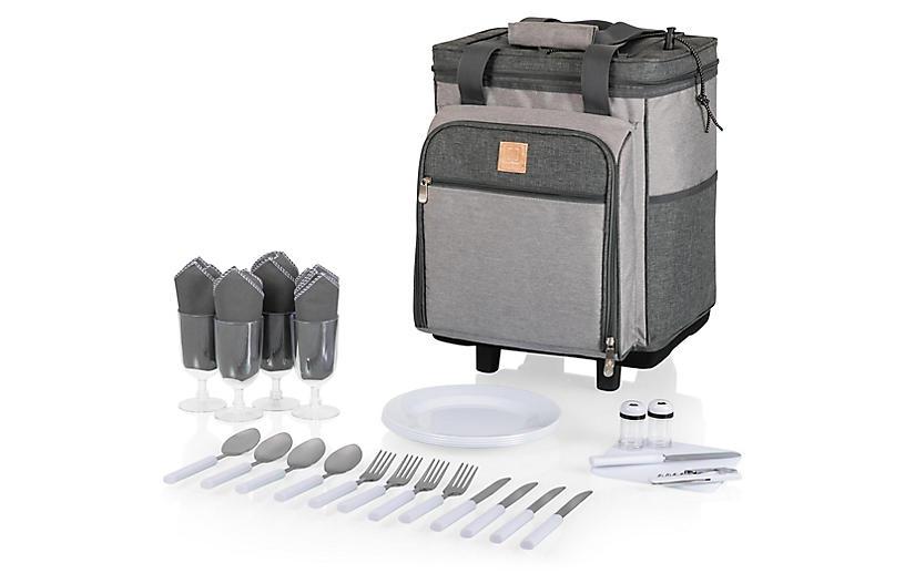 Rolling Teton Cooler Set, Heathered Gray