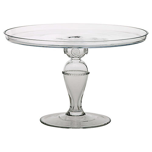 Isabella Cake Stand, Clear