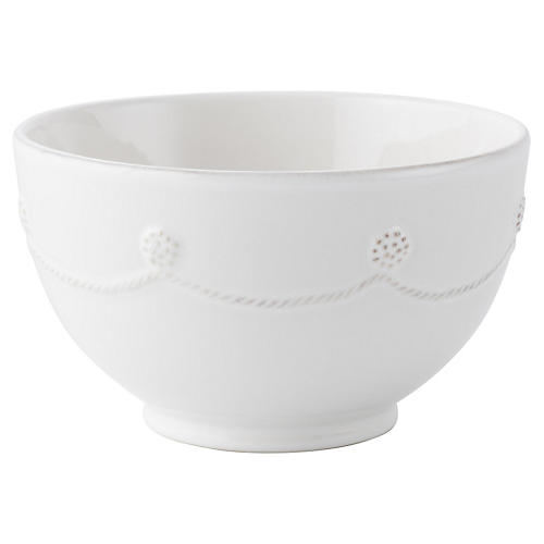 Berry & Thread Cereal Bowl, White