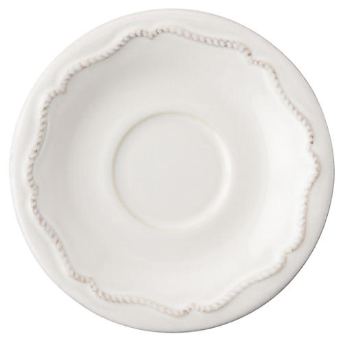 Berry & Thread Demitasse Saucer, White