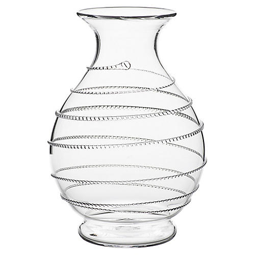 """8"""" Amalia Round Vase, Clear"""