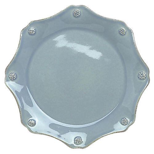 Berry & Thread Scalloped Salad Plate, Ice Blue