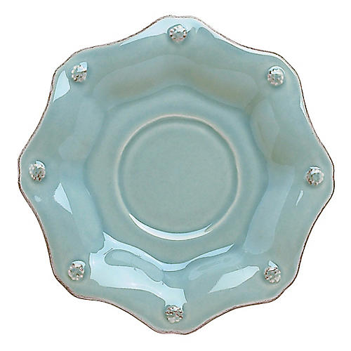 Berry & Thread Scalloped Saucer, Ice Blue