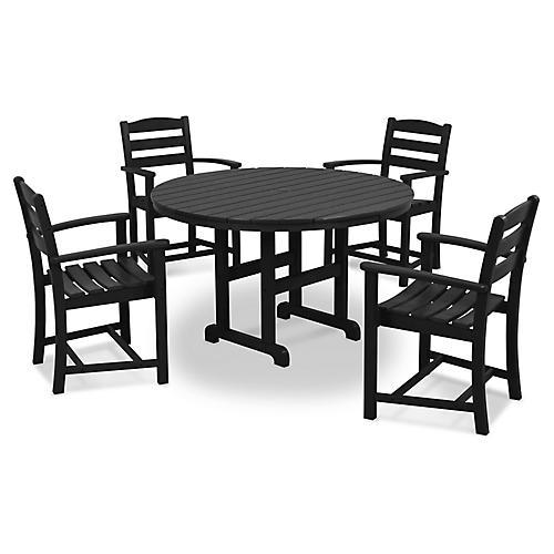 La Casa Café 5-Pc Dining Set, Black