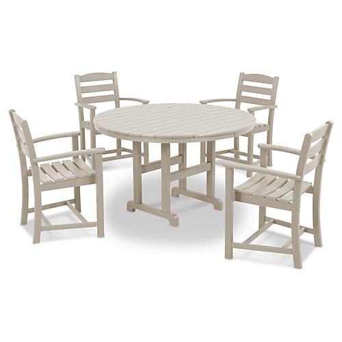 La Casa Café 5-Pc Dining Set, Sand