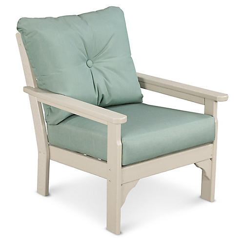 Vineyard Club Chair, Spa Sunbrella