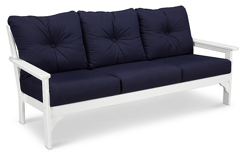 Vineyard Sofa, Navy Sunbrella