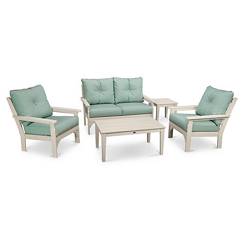 Vineyard 5-Pc Lounge Set, Spa Sunbrella