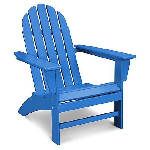 Vineyard Adirondack Chair, Pacific Blue