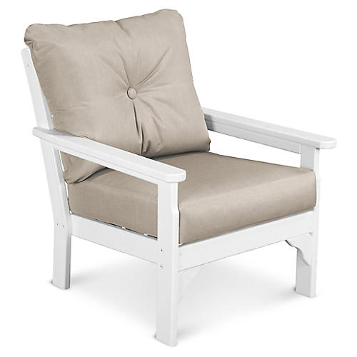 Vineyard Club Chair, Ash Sunbrella