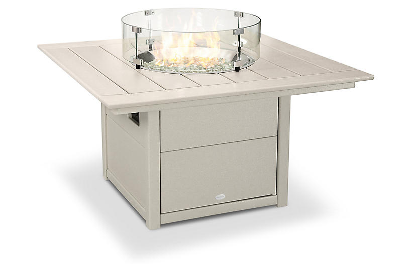 Square Fire Pit, Sand
