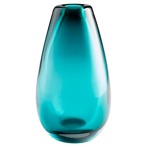 "14"" Ocean Large Vase, Blue"