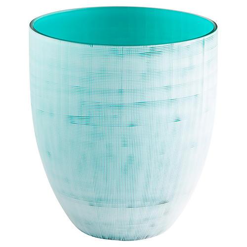 """9"""" Alabama Small Vase, Ice Blue"""