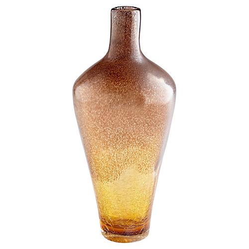 """16"""" Lapalux Tall Vase, Tortoise"""