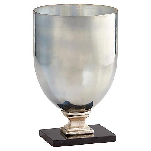 """14"""" Odetta Small Vase, Antiqued Platinum"""