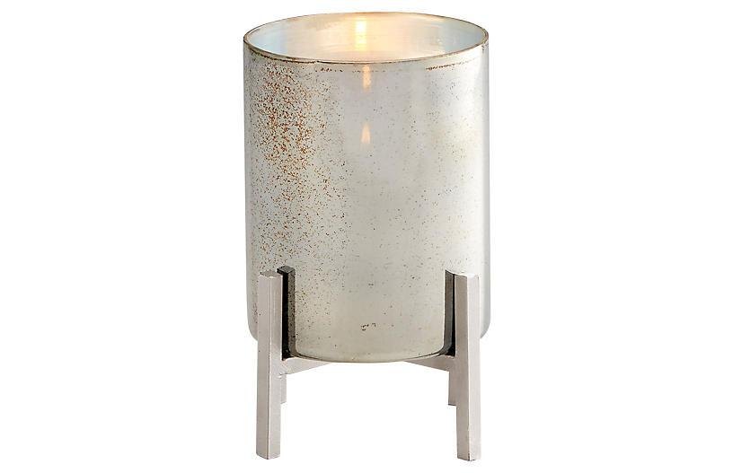 Basil Candleholder, Black/Verdi Garnet