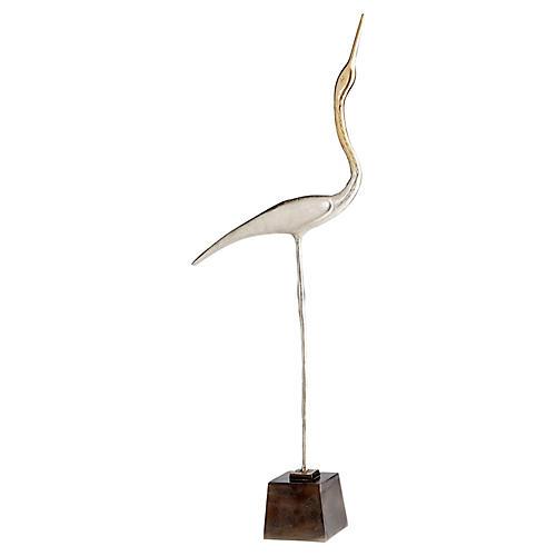 """44"""" Shorebird 1 Sculpture, Nickel/Bronze"""