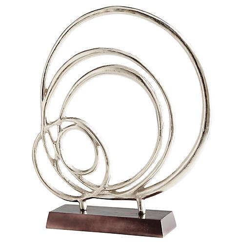 """27"""" Lipsice Sculpture, Nickel/Black"""