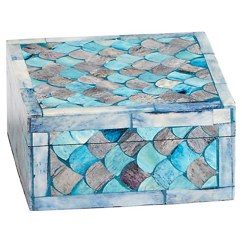Piceo Decorative Box, Turquoise