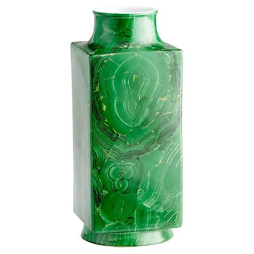 """16"""" Mala Large Vase, Emerald"""