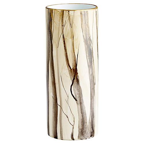 Into the Woods Vase, Beige/Multi