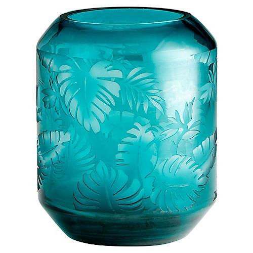 """10"""" Sumatra Small Vase, Turquoise"""