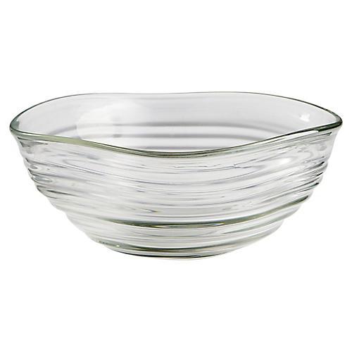 Wavelet Decorative Bowl, Clear