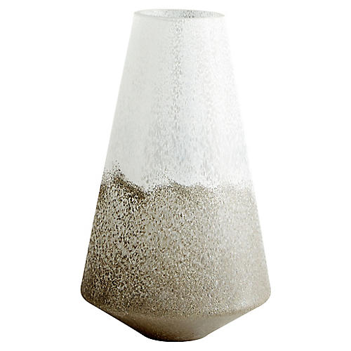 """16"""" Reina Large Balance Vase, Tuscan Taupe"""