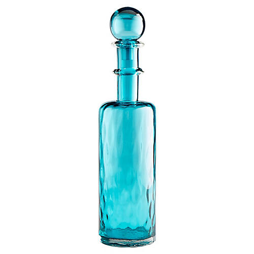 "23"" Decadent Decorative Large Decanter, Blue"