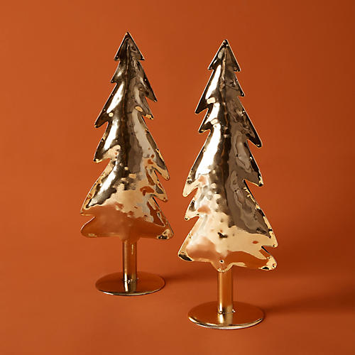 Christmas Tree Accent, Gold