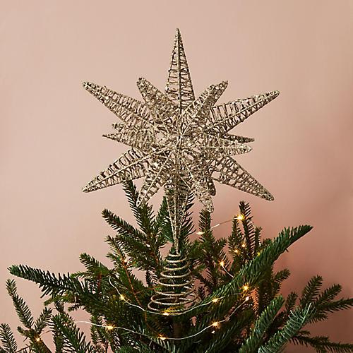 Shining Star Tree Topper, Gold