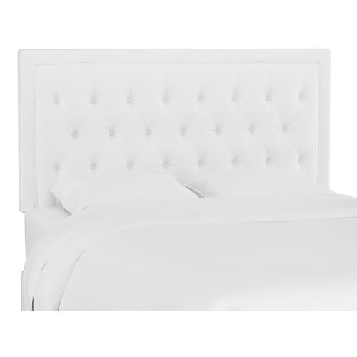 Alix Tufted Headboard, White